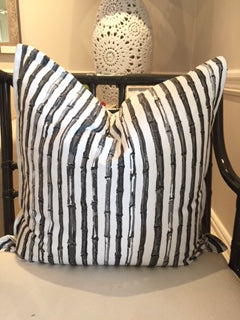 Charcoal Bamboo Scatter Cushion