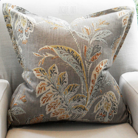 Grey Floral Scatter Cushion