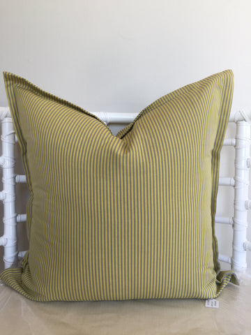 Chartreuse Pinstripe Scatter Cushion