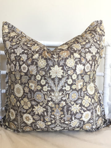 Charcoal Floral Scatter Cushion