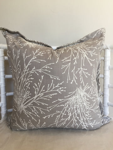 Coral Bush on Silver Scatter Cushion