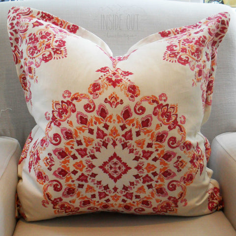 Magenta Stamp Scatter Cushion