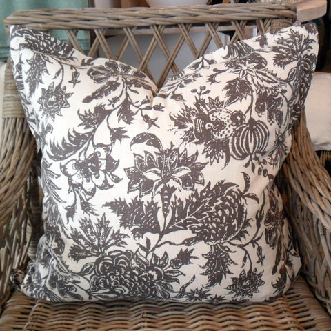 Charcoal Flower Scatter Cushion