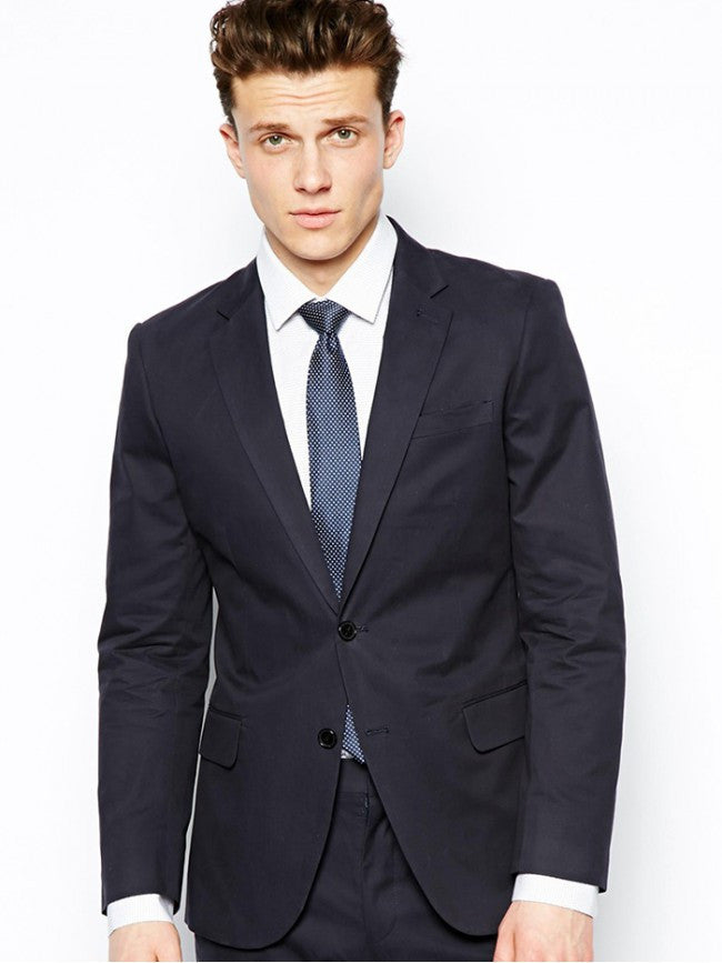 Slim Fit Suit In Panel