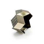 Jeanne Darc gold leather geometric bracelet