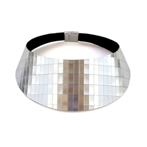 Load image into Gallery viewer, African queen gold zebra print wide leather choker
