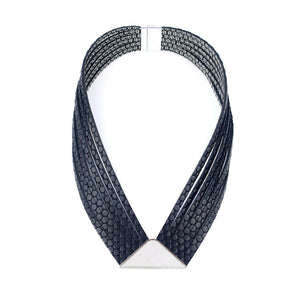 Load image into Gallery viewer, Element black modern leather necklace
