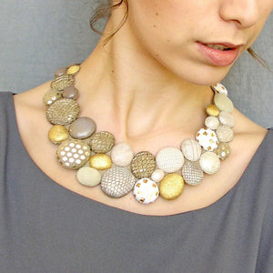 Load image into Gallery viewer, Pebbles Gold custom made collar