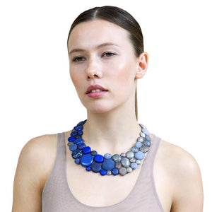 Pebbles blue custom made collar - ShulliDesign