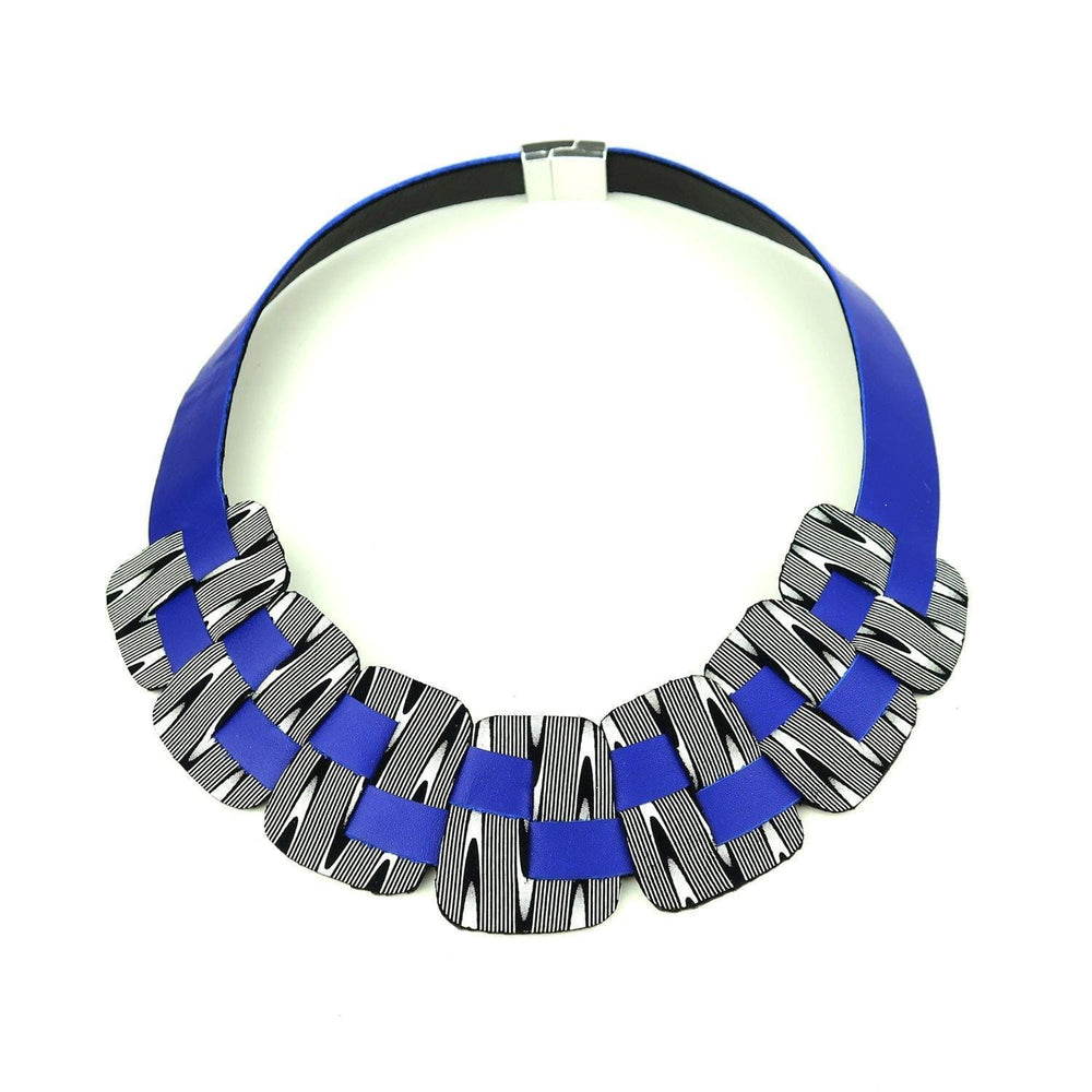 Load image into Gallery viewer, Victoria Blue woven necklace