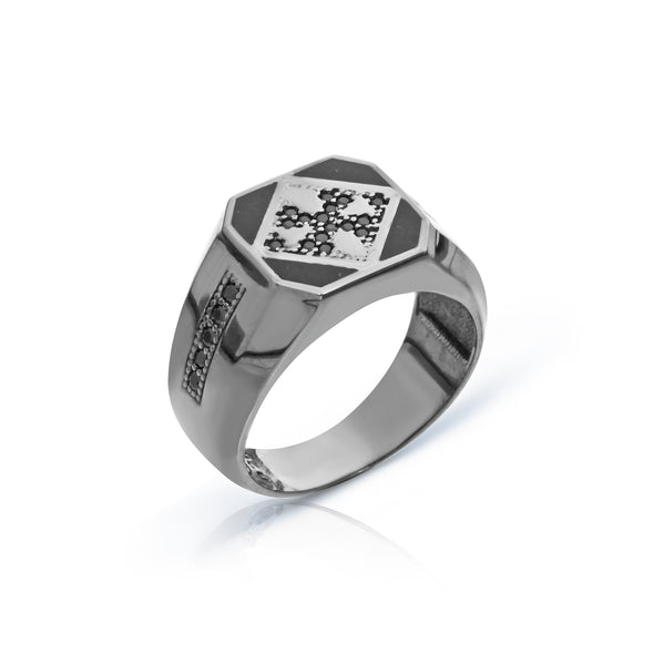 Octagon Compassion Ring