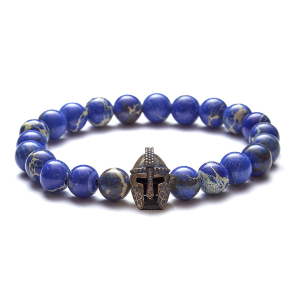 Gladiator Head Beaded Bracelet