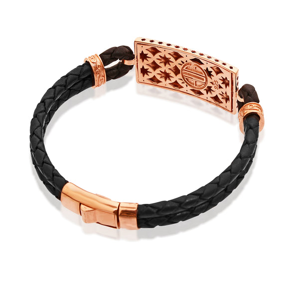 Octagon Mercy Leather Bracelet