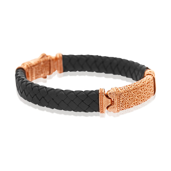 Octagon Patience Leather Bracelet