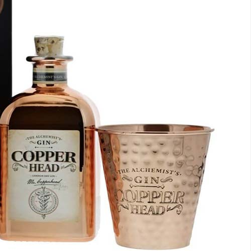 Copperhead  Gin 50cl mit 2 Kupferbecher