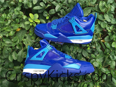 AIR JORDAN 4 (11LAB4 BLUE PATENT LEATHER)