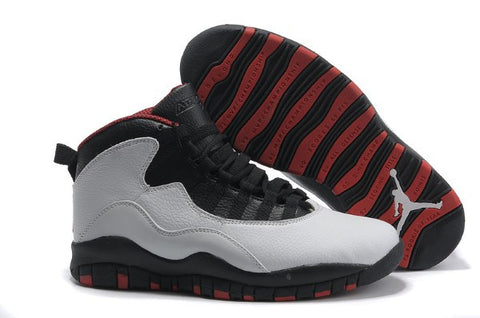 AIR JORDAN 10 (WHITE/ BLACK/ RED TRIM)