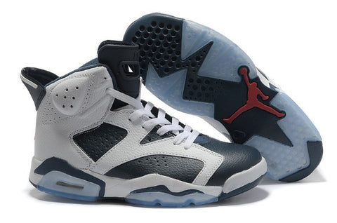 AIR JORDAN 6 (WHITE/ MIDNIGHT BLUE - OLYMPICS)