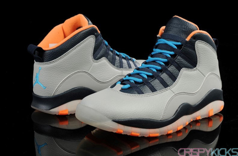 AIR JORDAN 10 (NAVY BLUE / FLINT GREY - BOBCATS)