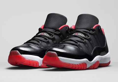 AIR JORDAN 11 LOW (TRUE RED / PLAYOFFS / BREDS)