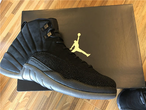 c78aa693a3d9 AIR JORDAN 12 (DRAKE OVO BLACK   GOLD) – CrispyKicks