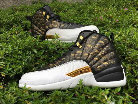 eb2d55887155a8 AIR JORDAN 12 (WINGS   WHITE   METALLIC GOLD) – CrispyKicks