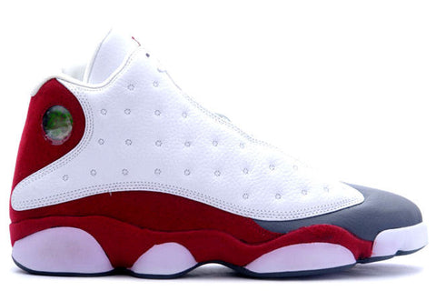 "AIR JORDAN 13 (WHITE / TEAM RED - FLINT GREY ""Grey Toes"")"