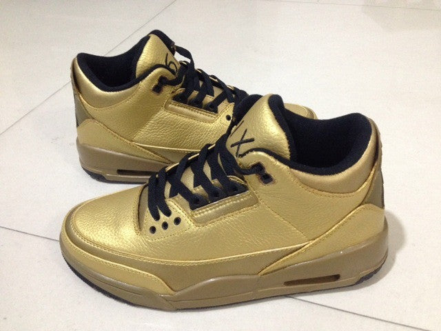 Jordan 7 Black And Gold AIR JORDAN 3 (GOLD OVO...
