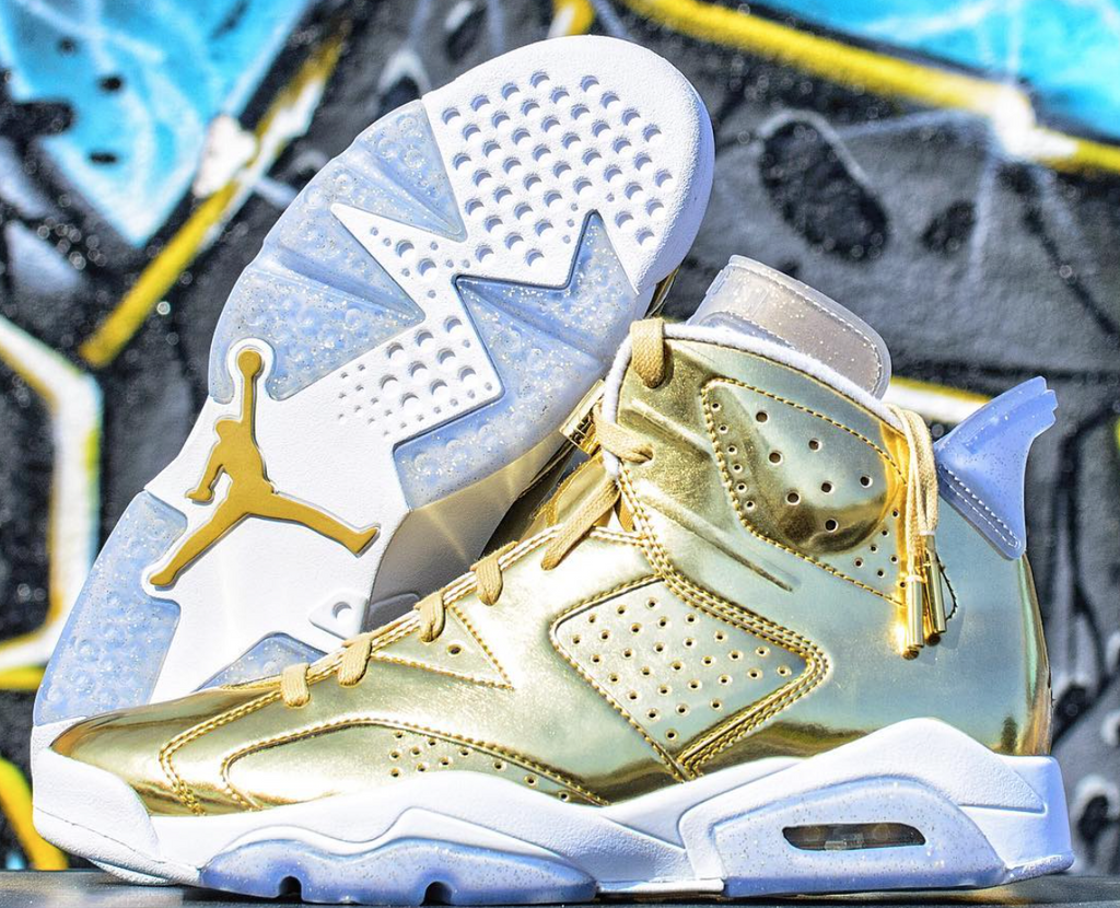 AIR JORDAN 6 (PINNACLE GOLD  WHITE)