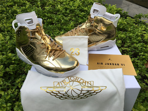 7691e7def09ae5 AIR JORDAN 6 (PINNACLE GOLD   WHITE) – CrispyKicks
