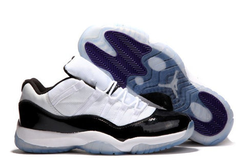 AIR JORDAN 11 LOW (WHITE / BLACK - CONCORDS)