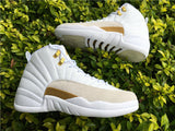 AIR JORDAN 12 (DRAKE OVO WHITE / GOLD)