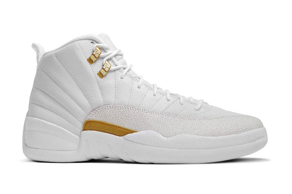 Air Jordan 12 Blanc Et Or Ovo