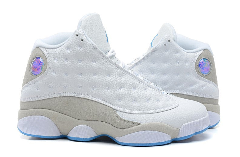 AIR JORDAN 13 (WHITE / SOFT GREY - CAROLINA BLUE)