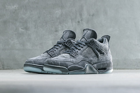 "AIR JORDAN 4 (COOL GREY ""KAWS"")"