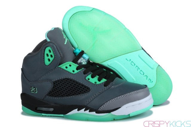 AIR JORDAN 5 (GREY / GLOW GREEN)