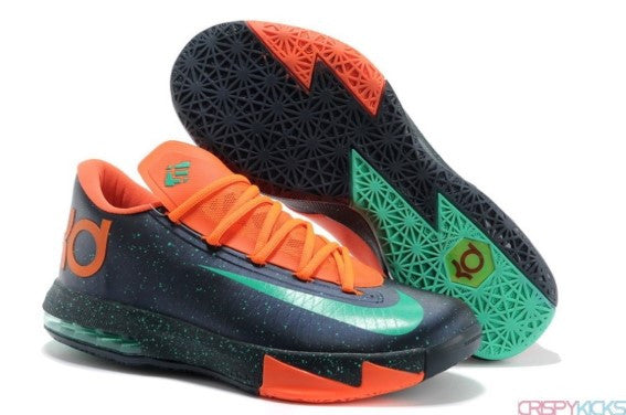 NIKE ZOOM KD VI (NAVY / SAFETY ORANGE)