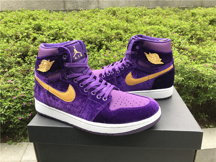 AIR JORDAN 1 (ROYAL PURPLE VELVET) – CrispyKicks df397bcf0