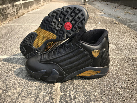 "AIR JORDAN 14 (BLACK / GOLD ""DMP"")"