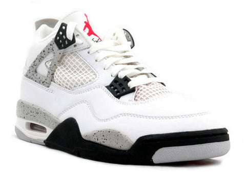 AIR JORDAN 4 (BLACK/ CEMENT GRAY- FIRE RED)