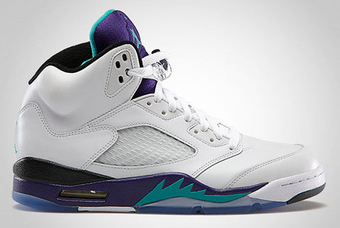 AIR JORDAN 5 (WHITE/NEW EMERALD-GRAPE-ICE BLUE)