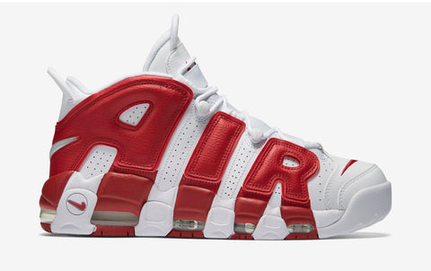 NIKE AIR MORE UPTEMPO (WHITE / RED)