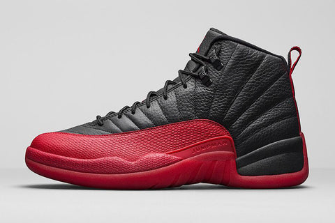 "AIR JORDAN 12 (BLACK/ RED ""FLU GAME"" 2016)"