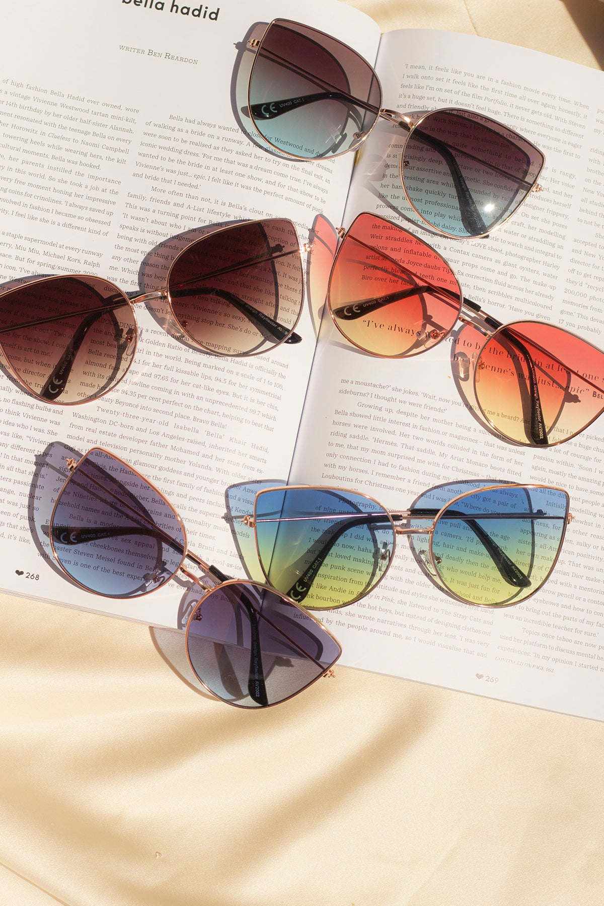 Butterfly Wire Frame Cat Eye Sunglasses - Sugar + Style