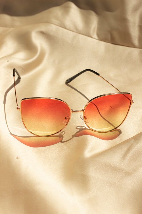 Butterfly Wire Frame Cat Eye Sunglasses