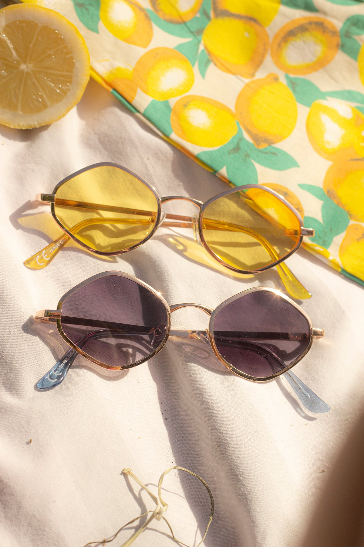 Diamond Frame Metal Sunglasses - Sugar + Style