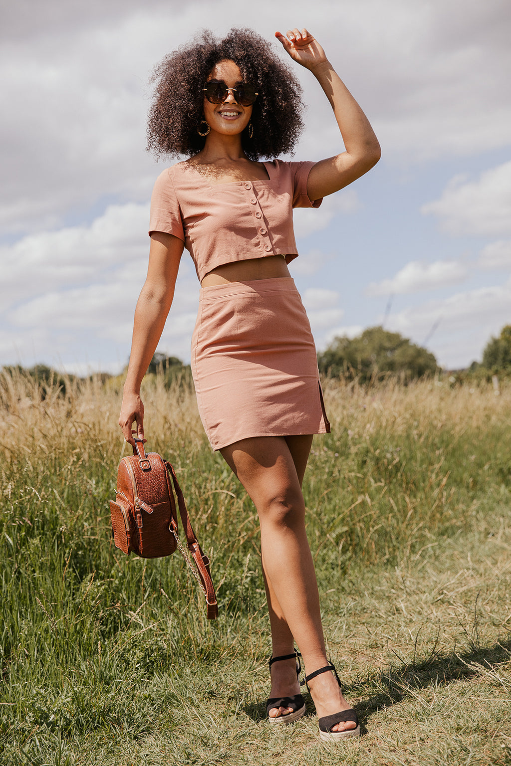Rustic Panelled Pencil Skirt - Sugar + Style