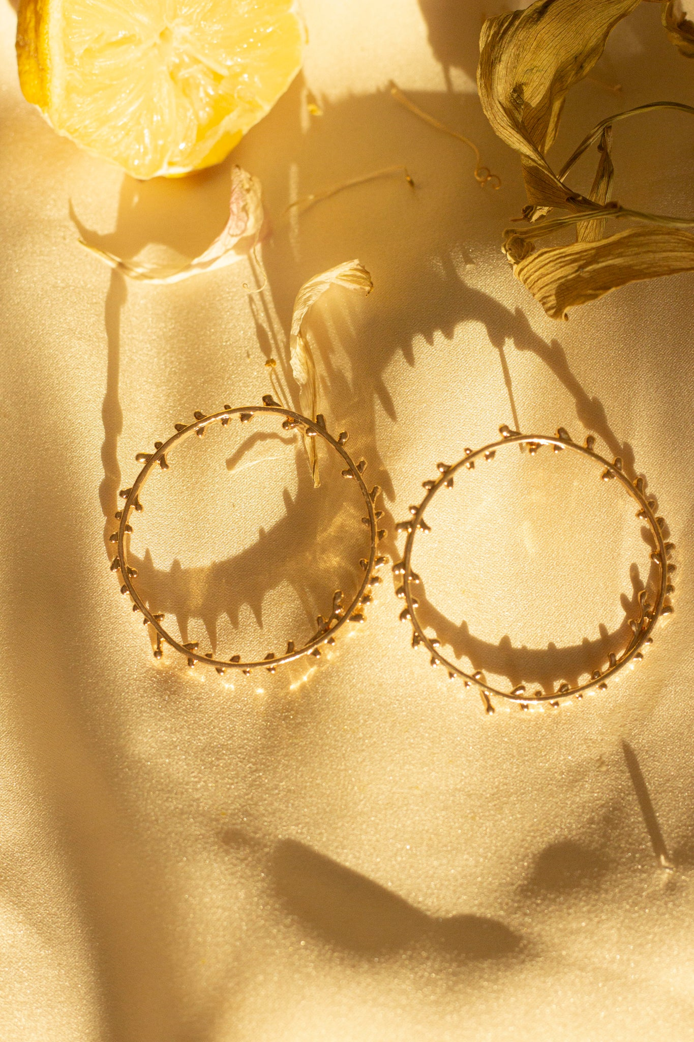 Garland Hoop Earrings - Sugar + Style