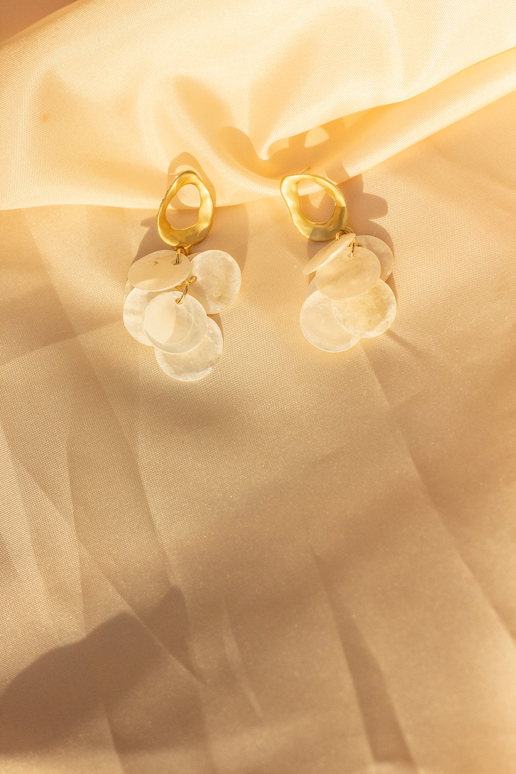 Gold Loop Pearl Cluster Dangle Earrings - Sugar + Style