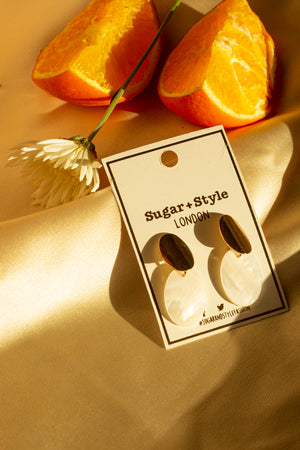 Two Tier Oval Earring - Sugar + Style